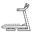 treadmill icon outline style vector image vector image