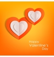 Valentines day typographical background with vector image vector image