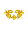 vintage baroque ornament in golden color elegant vector image vector image