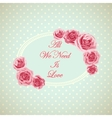 Vintage card with phrase all we need is love vector image