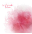watercolor pink background with space for text vector image vector image