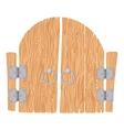 Wooden cartoon gate vector image