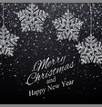 year background with snowflakes vector image