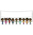 Cheerful happy African-American kids vector image