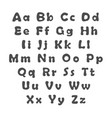 english alphabet uppercase and lowercase letters vector image