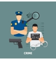 Law concept with crime vector image
