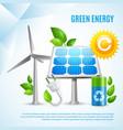 green energy design concept vector image