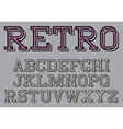 stylized retro font on the background vector image