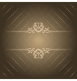 brown luxury background vector image