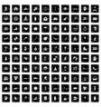 100 joy icons set grunge style vector image vector image