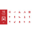 15 sit icons vector image vector image