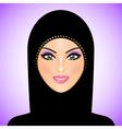 arab woman purple smile vector image vector image