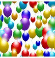balloons of all colors of the rainbow seamless vector image vector image