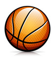 basketball ball isolated design vector image vector image