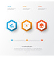 battle icons set collection of cranium ordnance vector image vector image