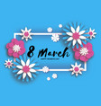 beautiful 8 march origami happy women s day vector image vector image