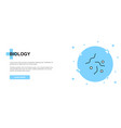 biology line icon simple icon banner outline vector image