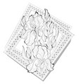 black and white page coloring book fantasy vector image