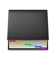 black notebook with colorful markers isolated on vector image vector image