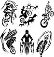 BMX rider silhouettes vector image vector image