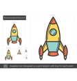 Business launching line icon vector image vector image