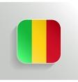Button - Mali Flag Icon vector image vector image