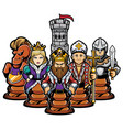 chess team concept vector image vector image