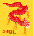 chinese new year isometric poster vector image vector image