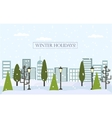 Chrismas winter flat landscape background New vector image vector image