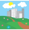 city surrounded by nature landscape vector image vector image
