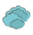 cloud climate weather color sketch vector image