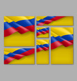 colombian patriotic festive banners set vector image vector image