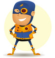 comic superhero with golden armor vector image vector image