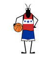 creative basketball player insect vector image