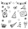 Cute doodle party art vector image vector image