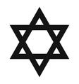David star simple icon vector image