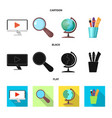 design education and learning icon set vector image vector image