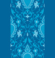 elegant turquoise pattern vector image vector image