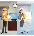 Engineer Cartoon Vertical Banners vector image