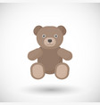 flat icon of teddy bear toy vector image vector image