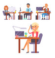 flat people work place business worker vector image