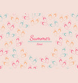 frame with place for text from summer slap on vector image vector image