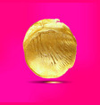 gold acrylic spot vector image vector image