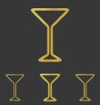 Golden line drink logo design set vector image vector image