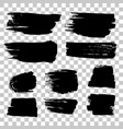 grunge black rough brush strokes set vector image vector image