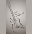 guitar background vector image vector image