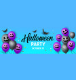 halloween creative party background with airy vector image