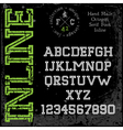 Handmade retro font Slab serif inline type vector image