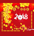 happy chinese new year 2018 card year of the dog vector image vector image