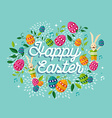 Happy Easter spring time background vector image